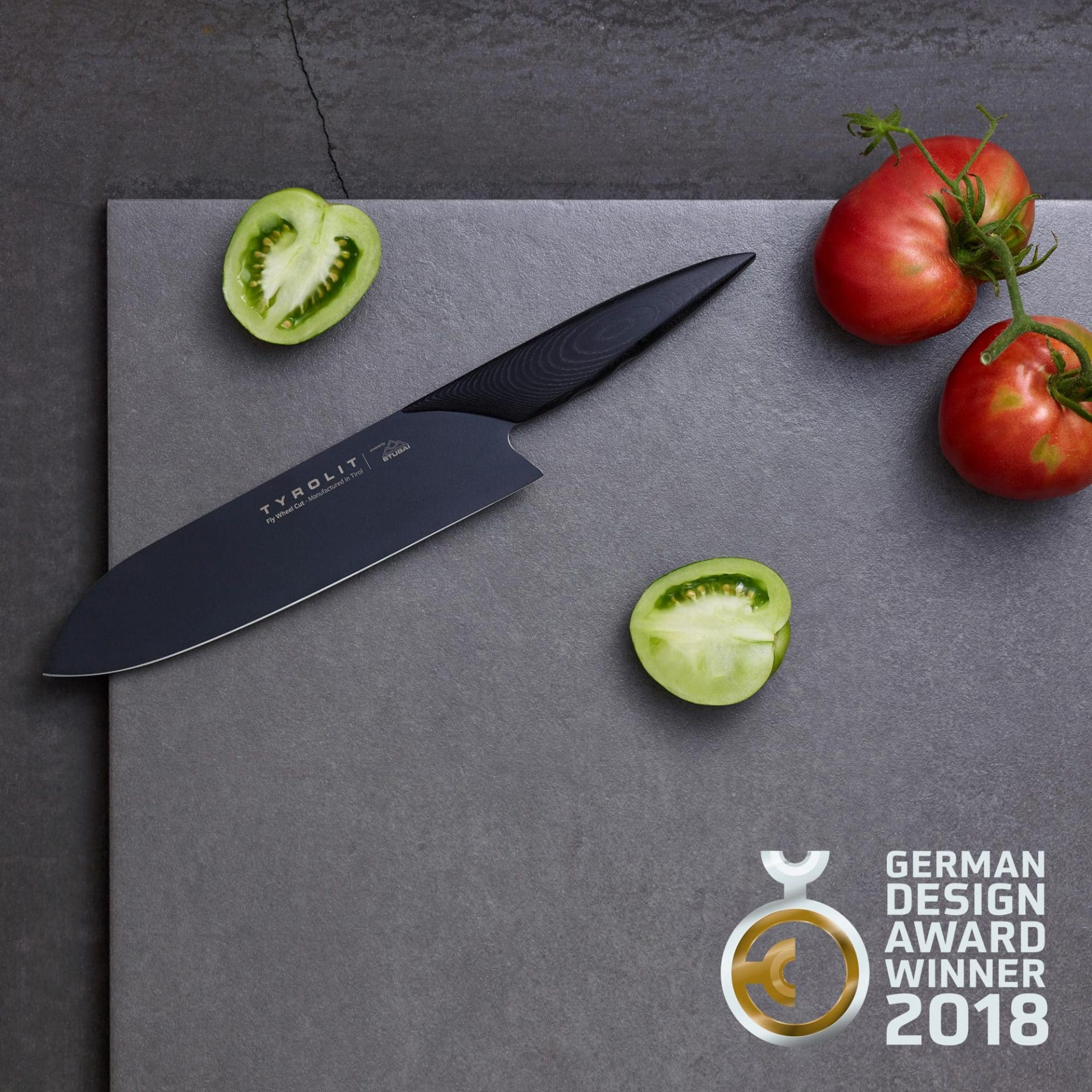 TYROLIT life Fly Wheel Cut Messer German Design Award